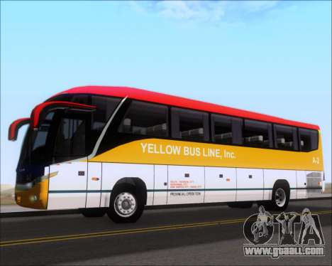 Marcopolo Paradiso G7 1050 Yellow Bus Line A-2 for GTA San Andreas