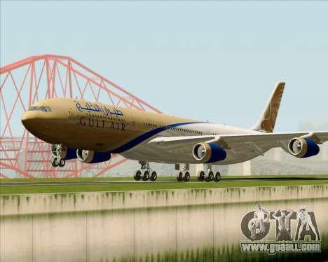 Airbus A340-313 Gulf Air for GTA San Andreas left view
