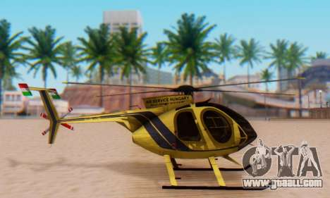 The MD500E helicopter v2 for GTA San Andreas left view