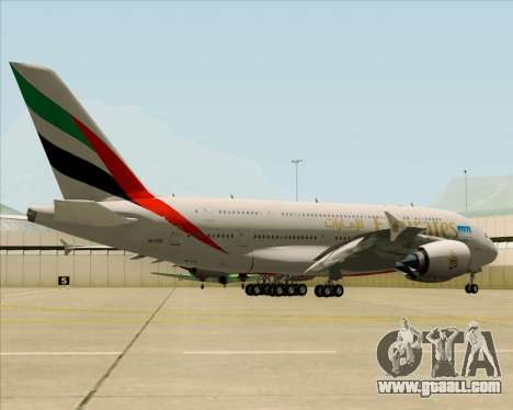 Airbus A380-841 Emirates for GTA San Andreas right view