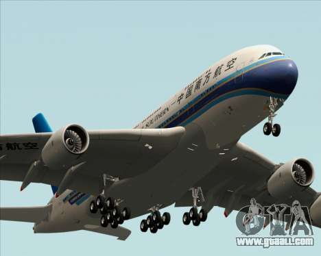 Airbus A380-841 China Southern Airlines for GTA San Andreas inner view