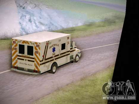 Pierce Commercial Grasonville Ambulance for GTA San Andreas side view