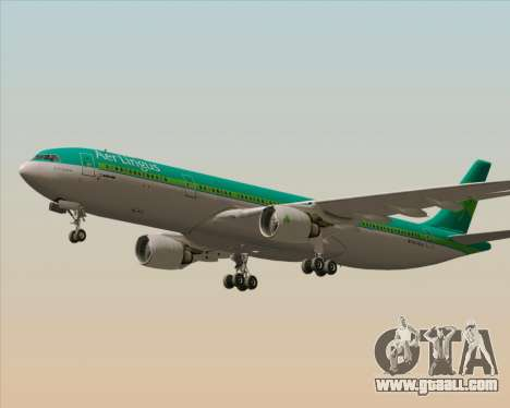 Airbus A330-300 Aer Lingus for GTA San Andreas back view