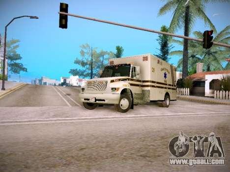 Pierce Commercial Grasonville Ambulance for GTA San Andreas left view