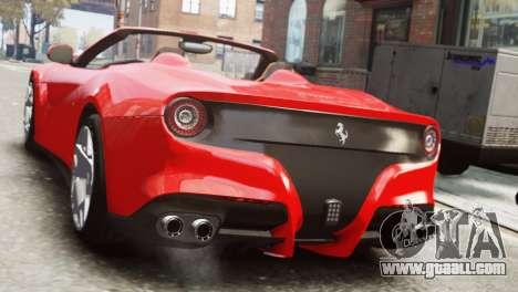 Ferrari F12 Roadster for GTA 4 left view
