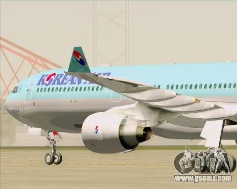 Airbus A330-300 Korean Air for GTA San Andreas inner view