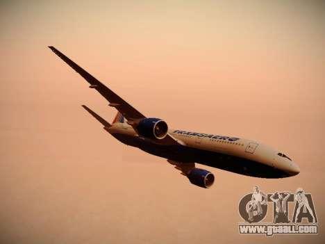 Boeing 777-212ER Transaero Airlines for GTA San Andreas engine