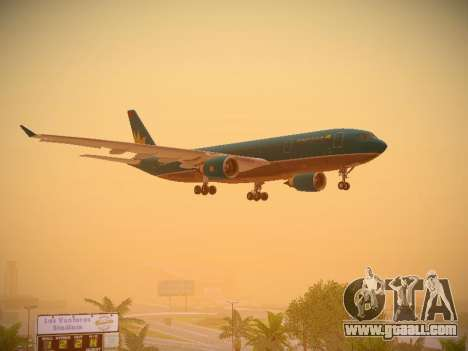 Airbus A330-200 Vietnam Airlines for GTA San Andreas bottom view