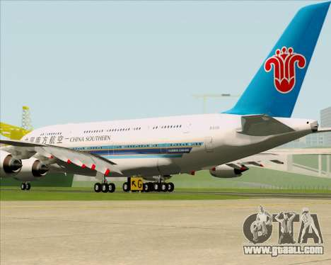 Airbus A380-841 China Southern Airlines for GTA San Andreas right view