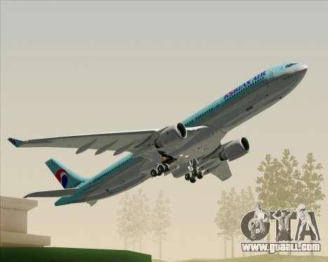 Airbus A330-300 Korean Air for GTA San Andreas engine