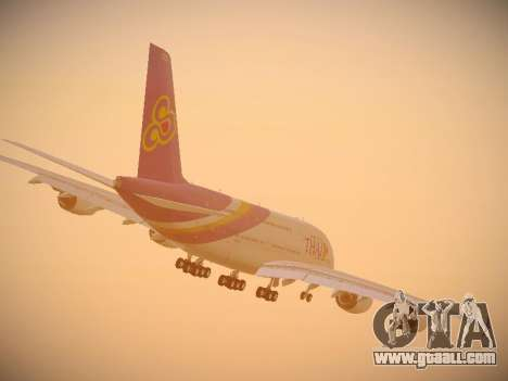 Airbus A380-800 Thai Airways International for GTA San Andreas upper view
