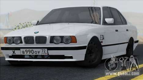 BMW M5 E34 for GTA San Andreas back view