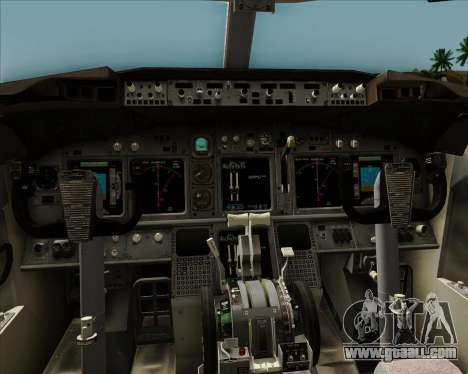 Boeing 737-8AS Ryanair for GTA San Andreas interior