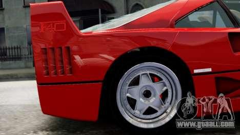 Ferrari F40 1987 for GTA 4 right view