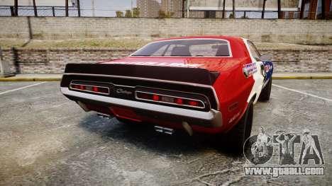 Dodge Challenger 1971 v2.2 PJ10 for GTA 4 back left view