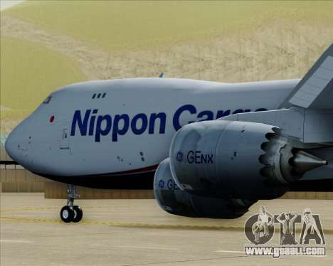 Boeing 747-8 Cargo Nippon Cargo Airlines for GTA San Andreas engine