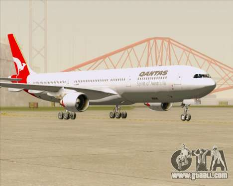 Airbus A330-300 Qantas for GTA San Andreas back left view