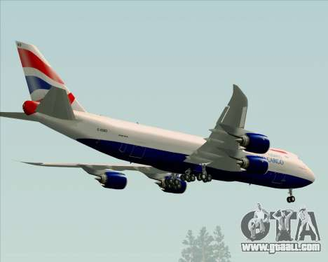 Boeing 747-8 Cargo British Airways World Cargo for GTA San Andreas side view