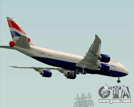 Boeing 747-8 Cargo British Airways World Cargo for GTA San Andreas side view