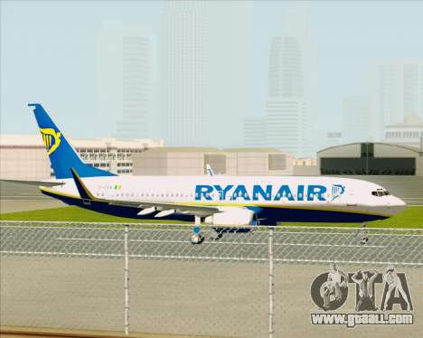 Boeing 737-8AS Ryanair for GTA San Andreas back view