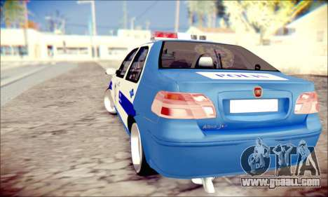 Fiat Albea Police Turkish for GTA San Andreas back left view