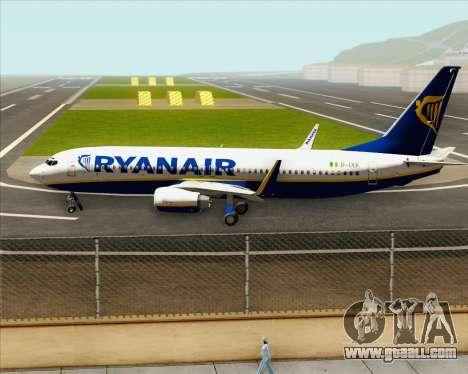 Boeing 737-8AS Ryanair for GTA San Andreas inner view