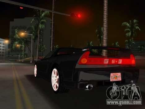 Honda NSX-R for GTA Vice City inner view