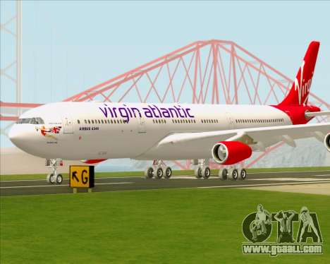 Airbus A340-313 Virgin Atlantic Airways for GTA San Andreas upper view