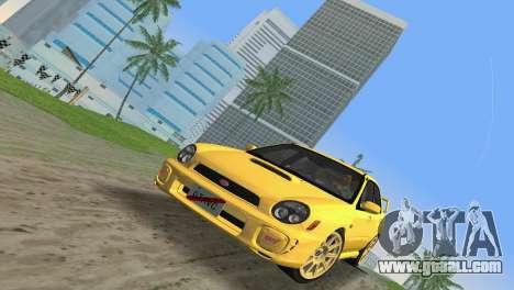 Subaru Impreza WRX 2002 Type 1 for GTA Vice City back left view