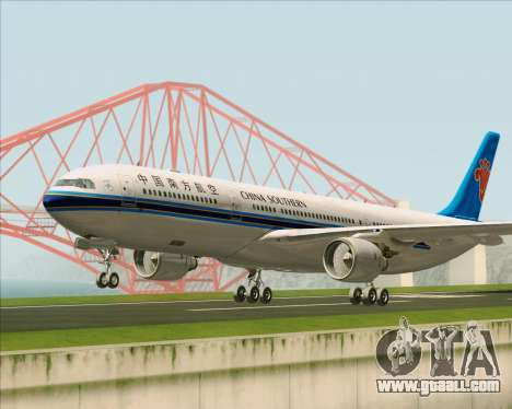 Airbus A330-300 China Southern Airlines for GTA San Andreas left view