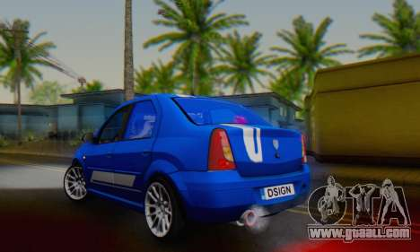 Dacia Logan Tuning Rally (B 48 CUP) for GTA San Andreas back left view