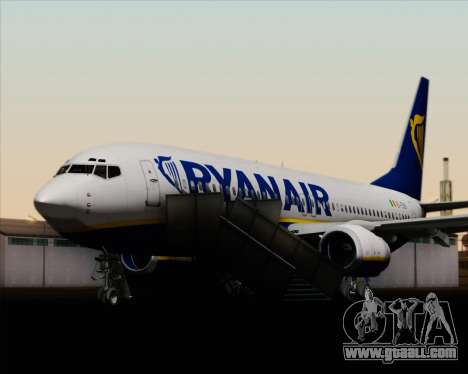 Boeing 737-8AS Ryanair for GTA San Andreas wheels