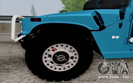 Hummer H1 Alpha 2006 Road version for GTA San Andreas left view