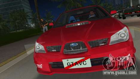 Subaru Impreza WRX STI 2006 Type 1 for GTA Vice City back view