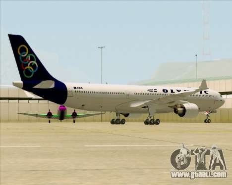 Airbus A330-300 Olympic Airlines for GTA San Andreas back left view