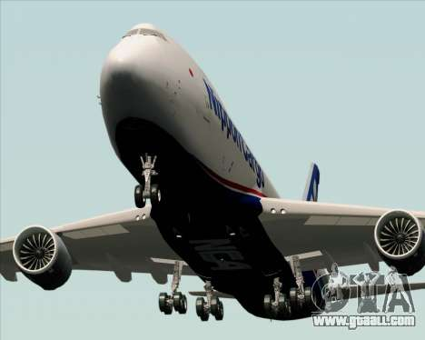 Boeing 747-8 Cargo Nippon Cargo Airlines for GTA San Andreas side view