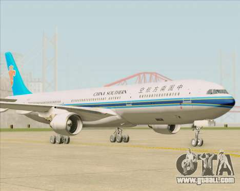 Airbus A330-300 China Southern Airlines for GTA San Andreas back left view