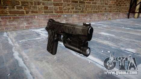 Gun Kimber 1911 Kryptek Typhon for GTA 4