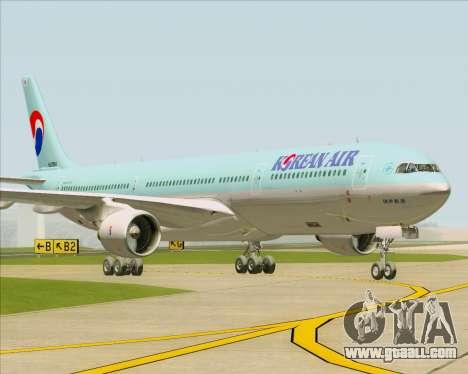 Airbus A330-300 Korean Air for GTA San Andreas back left view