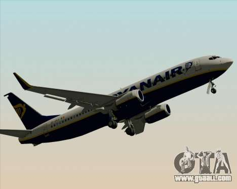 Boeing 737-8AS Ryanair for GTA San Andreas bottom view