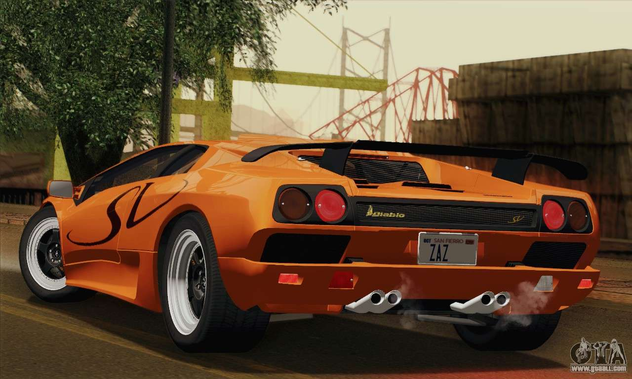 Lamborghini Diablo Sv 1995 Imvehft For Gta San Andreas