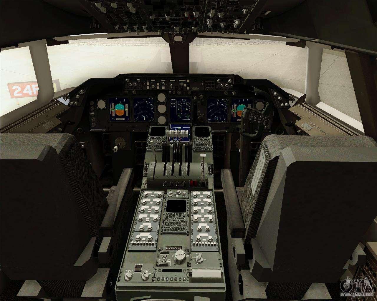 Boeing 747 8 cargo british airways world cargo for gta san for Gta sa plane interior mod