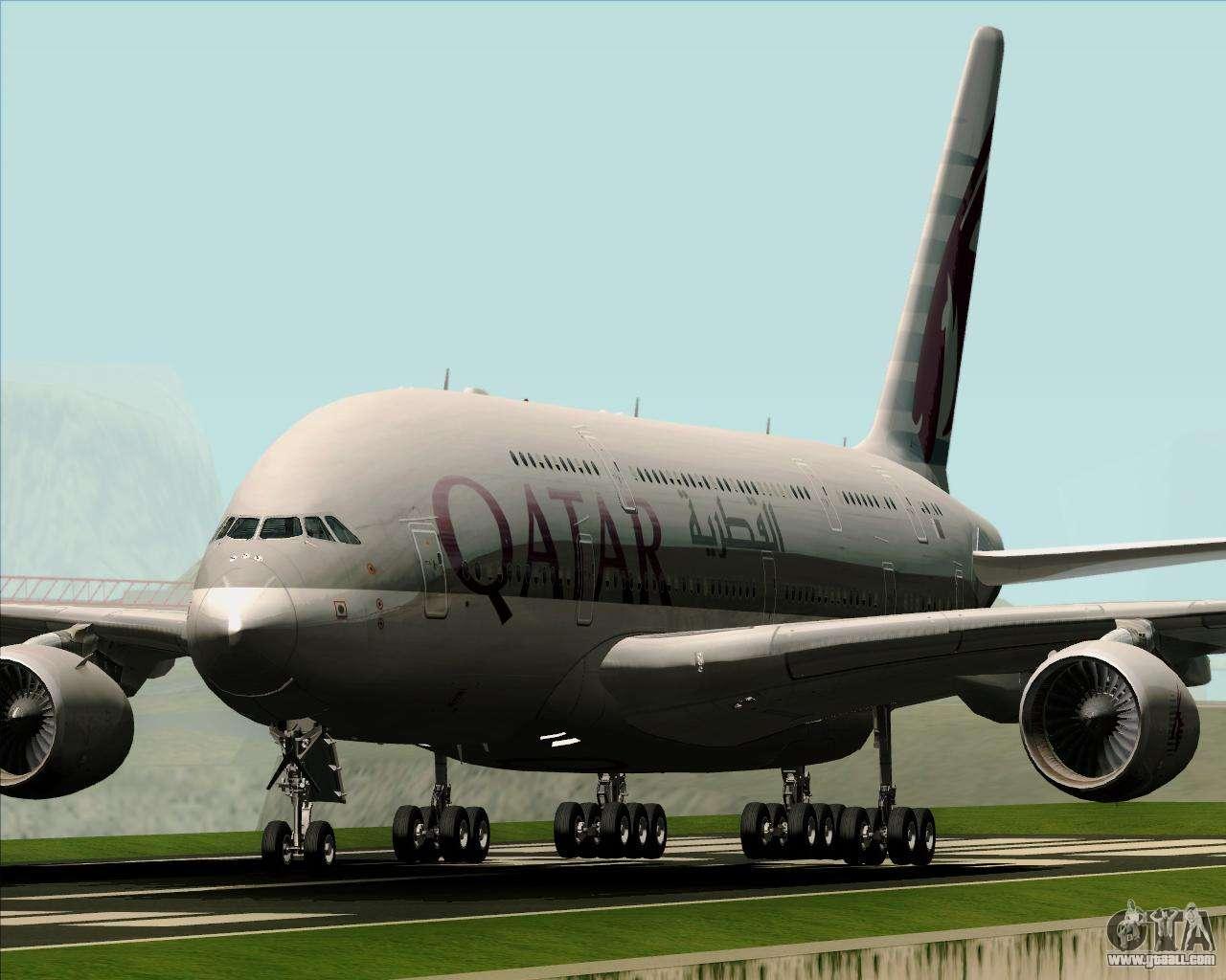 airbus a380861 qatar airways for gta san andreas