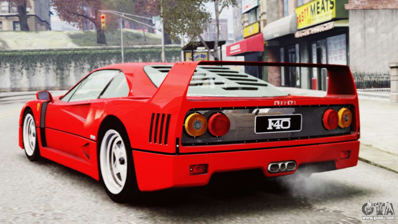 Ferrari f40 1987 for gta 4 ferrari f40 1987 for gta 4 left view vanachro Choice Image