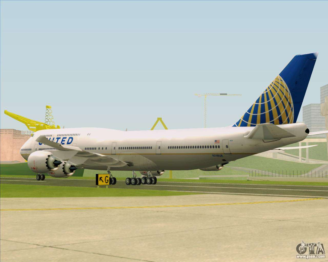 Boeing 747-8 Intercontinental United Airlines for GTA San ...