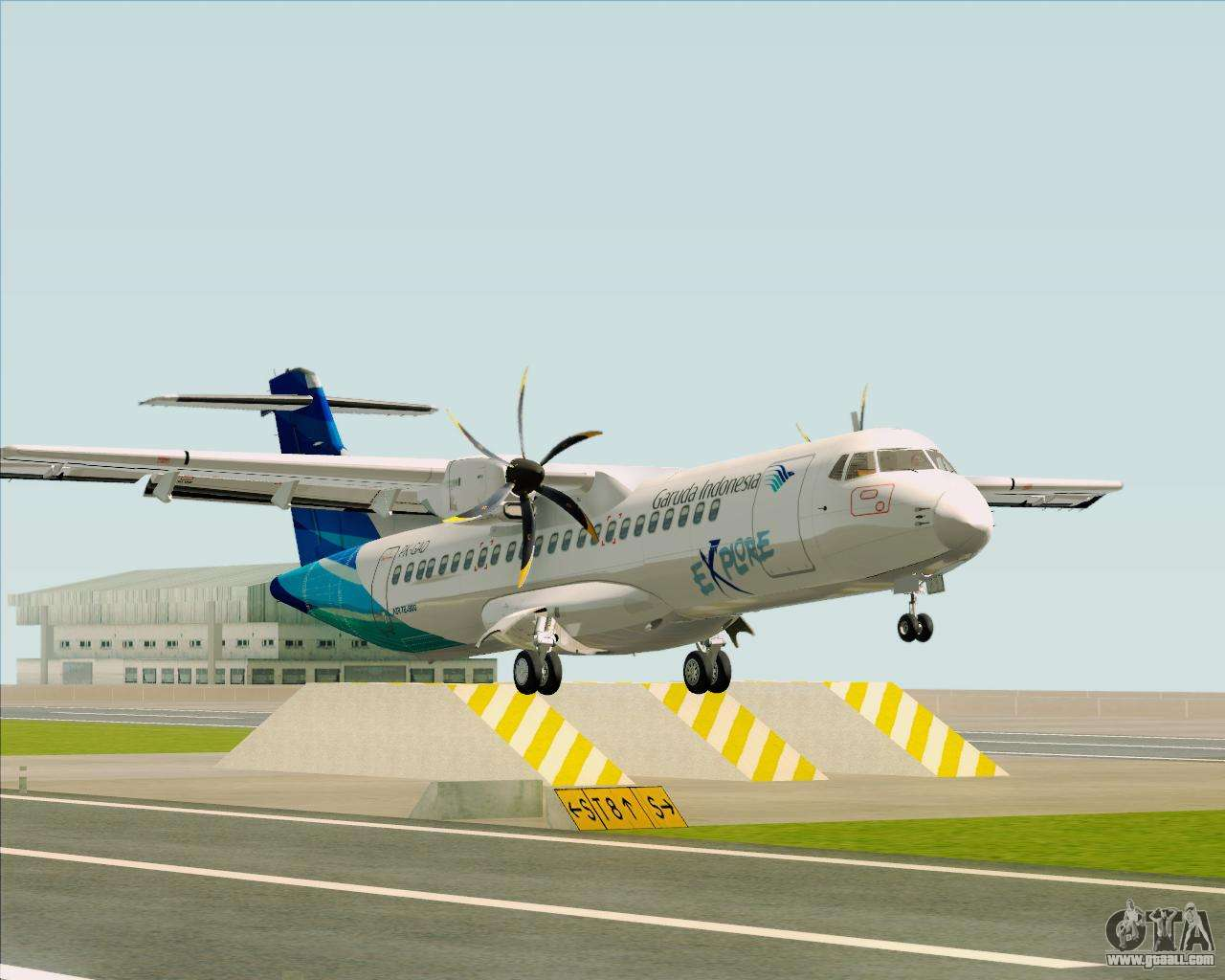 Atr 72 500 Garuda Indonesia Explore For Gta San Andreas