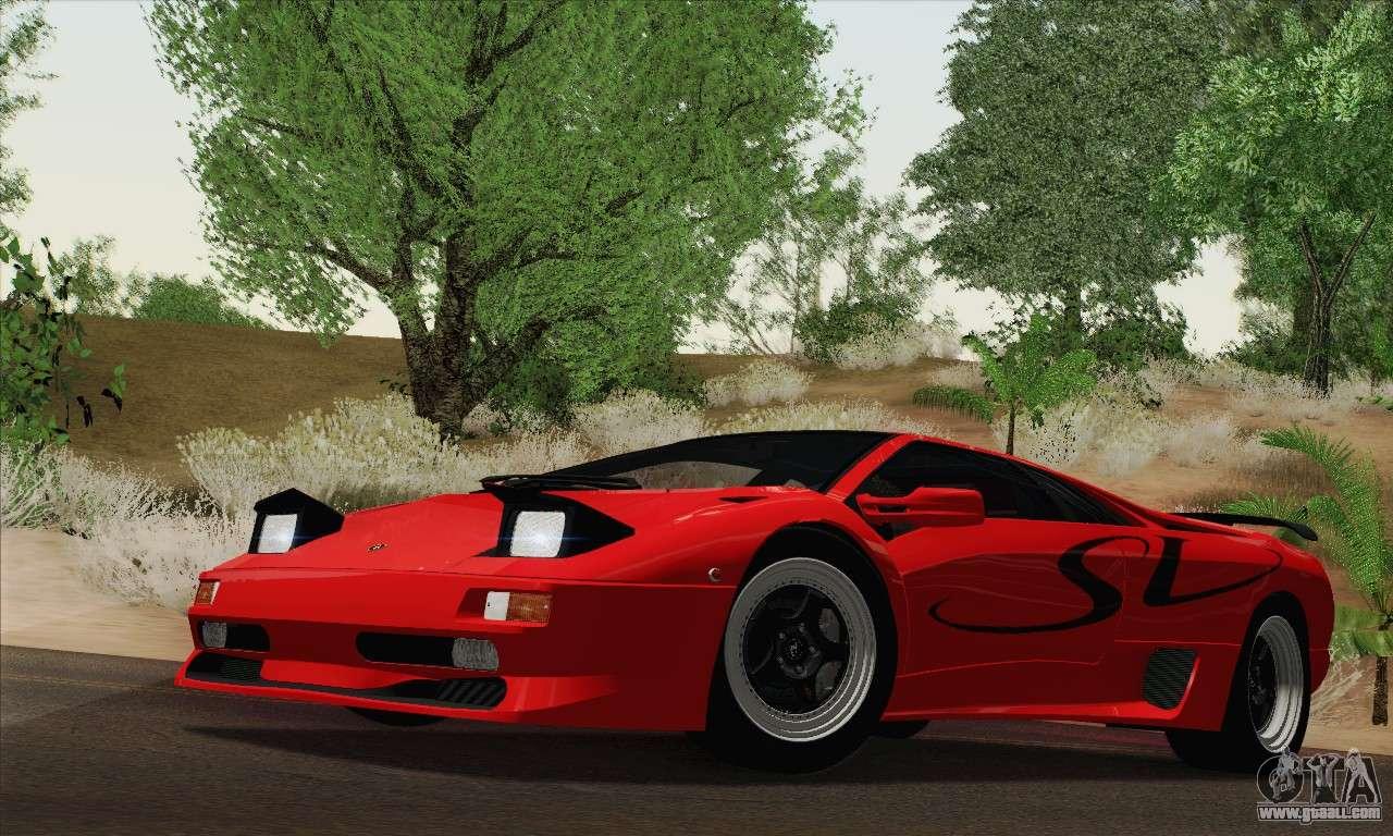 Lamborghini Diablo Sv 1995 Hqlm For Gta San Andreas