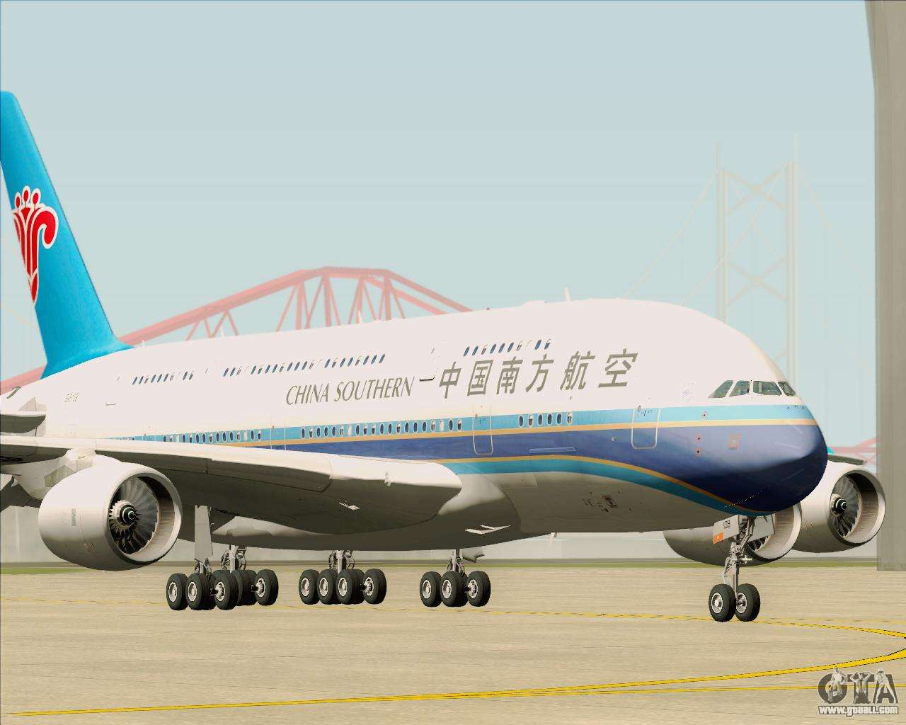 Airbus A380 841 China Southern Airlines For Gta San Andreas