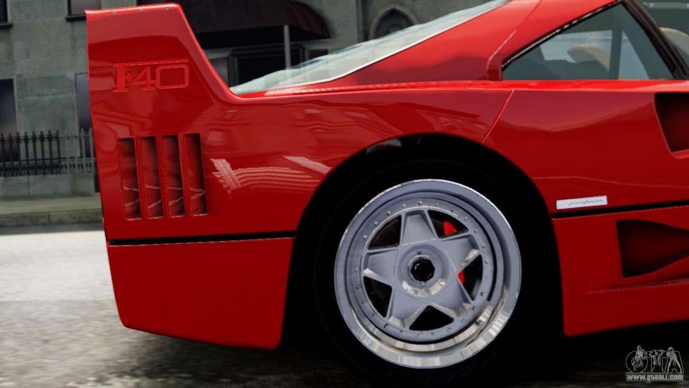 Ferrari F40 1987 for GTA 4