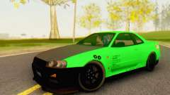 Nissan Skyline GT-R 34 for GTA San Andreas